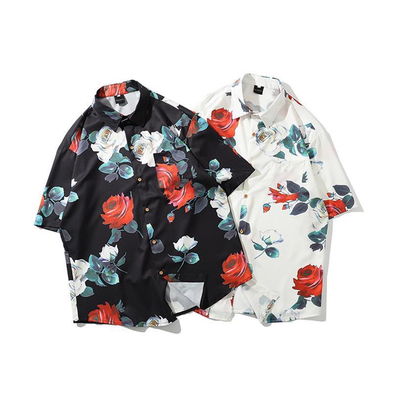 봄과 여름 기모노 스타일 망 셔츠 2021 Janpanese 인쇄 느슨한 하라주쿠 셔츠 여성 남성 커플 Kimonos Tops 남자 캐주얼