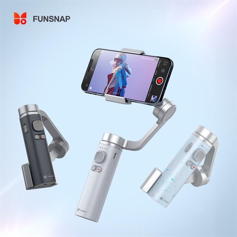 EU STCOCK Funsnap Capture2s 3 Asse Palmare Stabilizzatore Gimbal Stabilizzatore Focus Tiro Zoom per Smartphone Camera Video Record Bluetooth Vlog Live