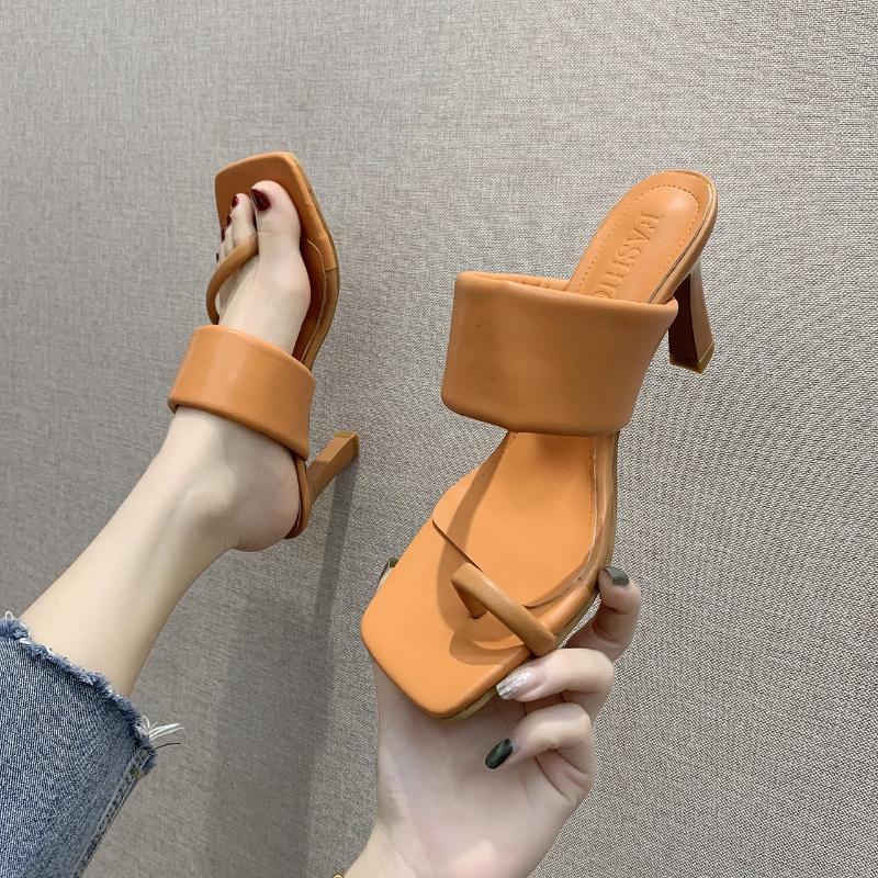 Sandali da viaggio con tacco alto da donna Sandali da viaggio in gomma inferiore antiscivolo Slipper Aumento Sandalo Cinturino Sexy Delle Donne Delle Scarpe da donna