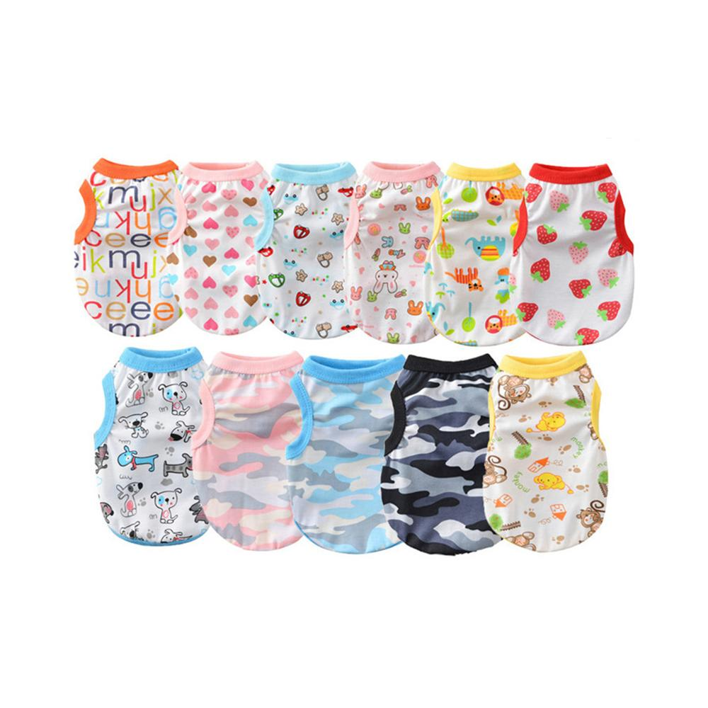 Pet Clothes Spring And Summer Cute Floral Cotton Dog Apparel Cat Puppy Teddy Vest Jacket Clothing Dogs Supplies w-00762