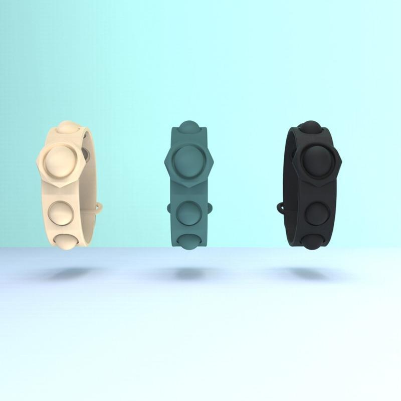 감각 팔찌 푸시 버블 팝 페이 포지 장난감 압축 해제 키 체인 퍼즐 프레스 손가락 장난감 거품 스트레스 팔찌 팔찌 eeb5749