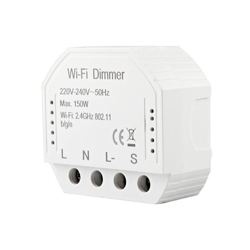 Control de hogar inteligente para TUYA LIFE WIFI Dimmer Light Switch 1 / 2gang 220V LED Breaker Wireless Voice Temporizador remoto Google Alexa
