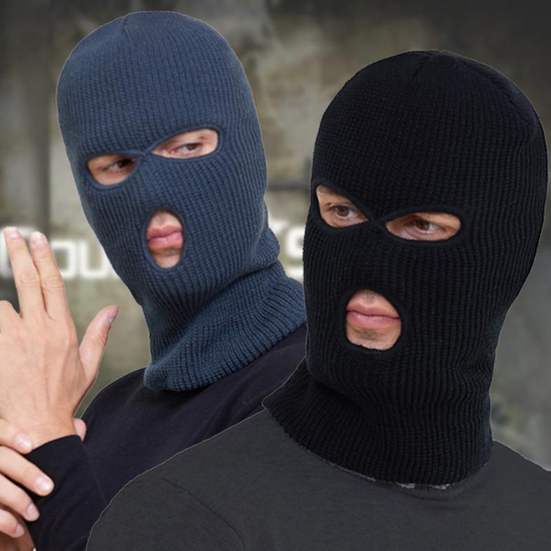 Лыжная маска вязаная крышка для лица зима Балаклава полная для спорта на открытом воздухе CS три 3 отверстия вязаные шапочки