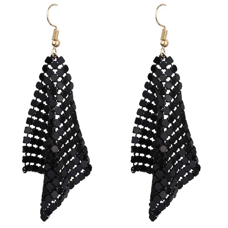 Européenne et américaine bijoux populaire mode petite carrée longue boucles d'oreilles de la mariée robe de soirée bijoux accessoires neufs 57 T2