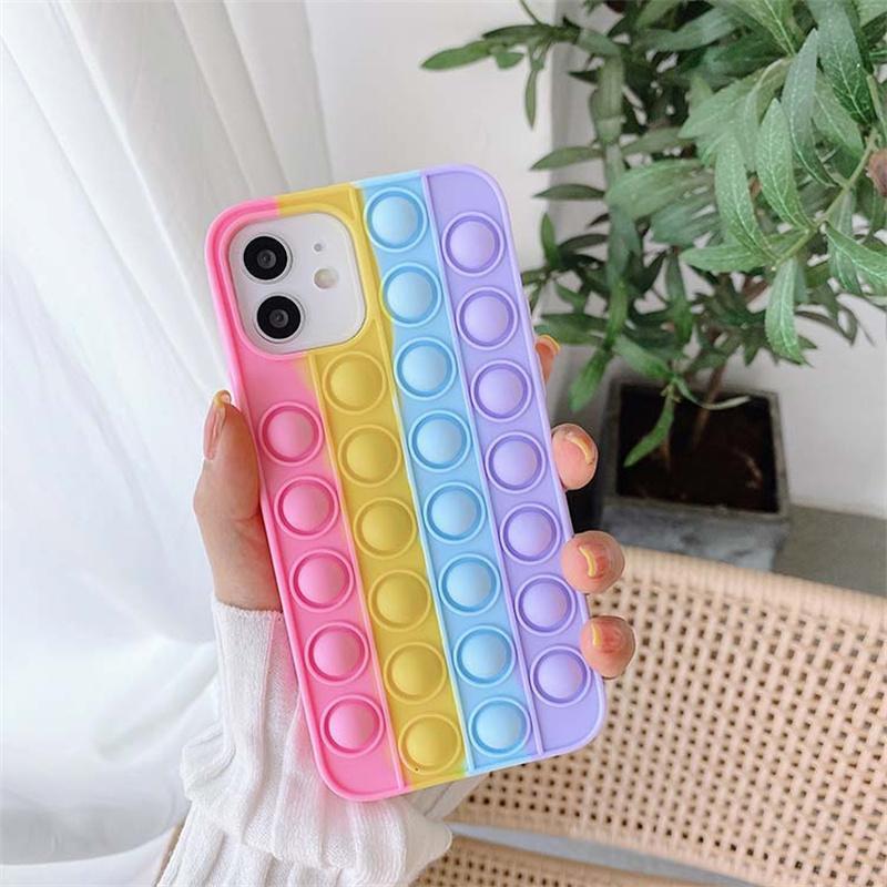 Custodia da celle per cellulari anti-drop colorata in silicone per iPhone 13 12 11 Pro Max X XS XR 7 8 6S Plus Samsung Galaxy S20 S21