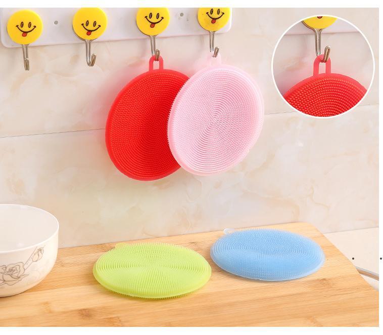 Cucina multifunzionale Spazzola per lavastoviglie Silicone Silicone Cassaforte Non-Stick Eletica Sacchetti Isolanti di Isolamento termico Pads Coasters Brushes Pots RRF8341