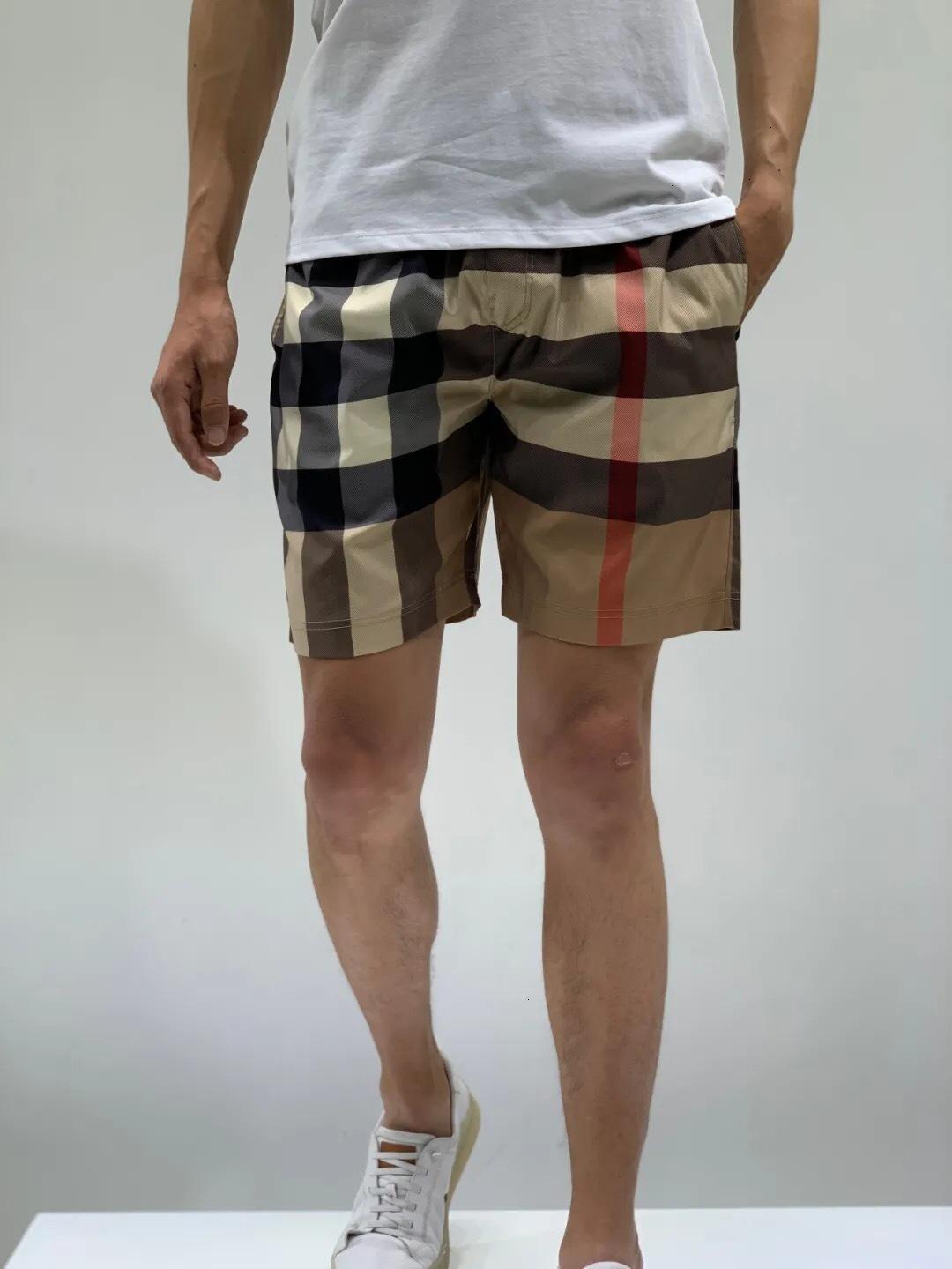 2021 de alta qualidade shorts designer homens e mulheres casuais casuais Quick seco B / U / R Trunks de natação Qualidade de luxo Algodão de seda Calças