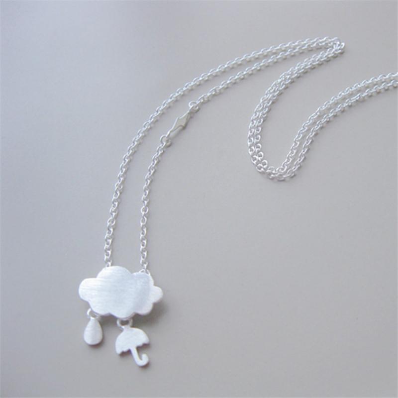 Pendant Necklaces Necklace Chain Lady Clound Umbrella Boho Jewelry Women's Statement Choker Neckless Kolye Bayan L1178