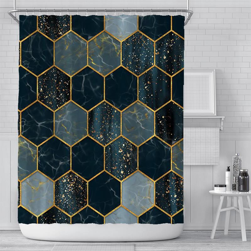 Nouveau rideau Creative Digital Impression Rideau étanche Polyester Rideau de salle de bain Sélo-pare-soleil Rideaux de douche Personnalisation Vente en gros OOD5460