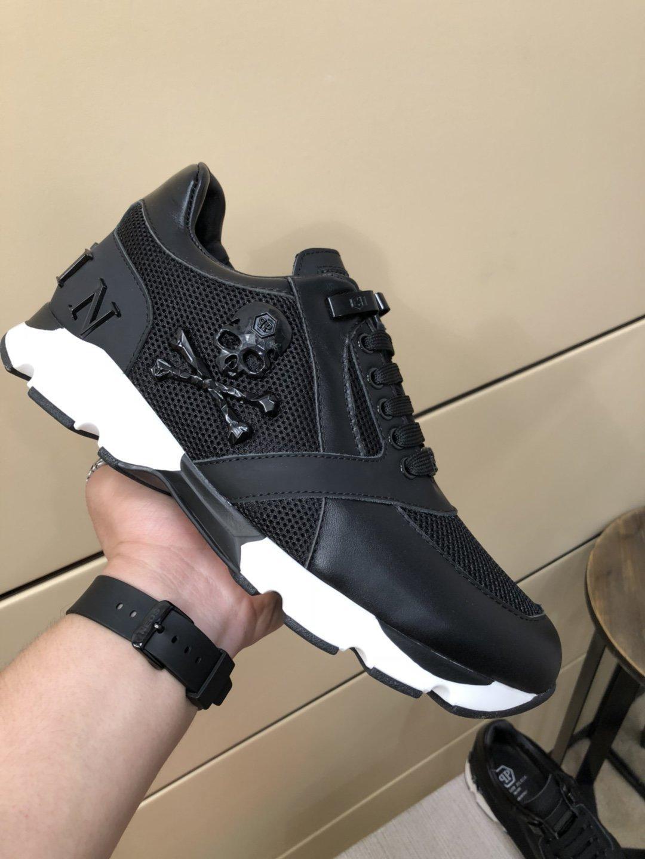 Philipp Plein PP 2021 Casual erkek Ayakkabı Moda Lüks Düz Rahat Sneakers Üst Marka Dantel-Up Erkek Ayakkabı Boyutu 38-44