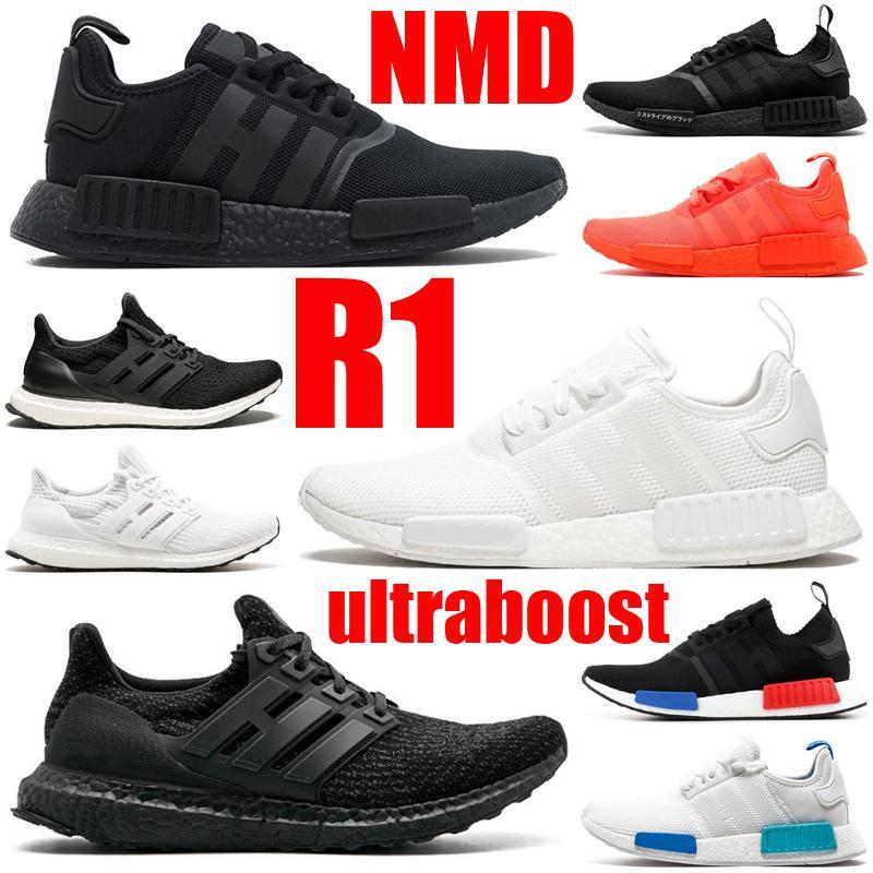 2021 nmd r1 ultraboost men women shoes ultra triple black white mens womens trainers sports sneakers runners