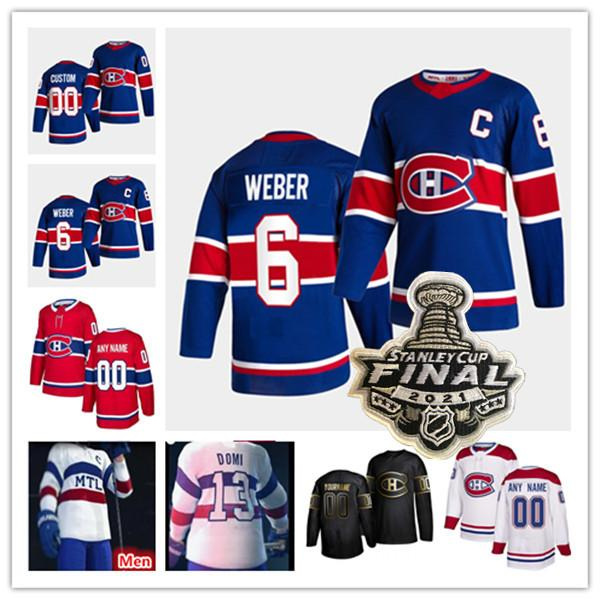 Montreal Canadiens 2021 Reverse Retro Final Jersey Tyler Toffoli Jeff Petry Suzuki Tomas Tatar Brendan Gallagher Danault Carey Prezzo Shea Weber Drouin Kotkaniemi