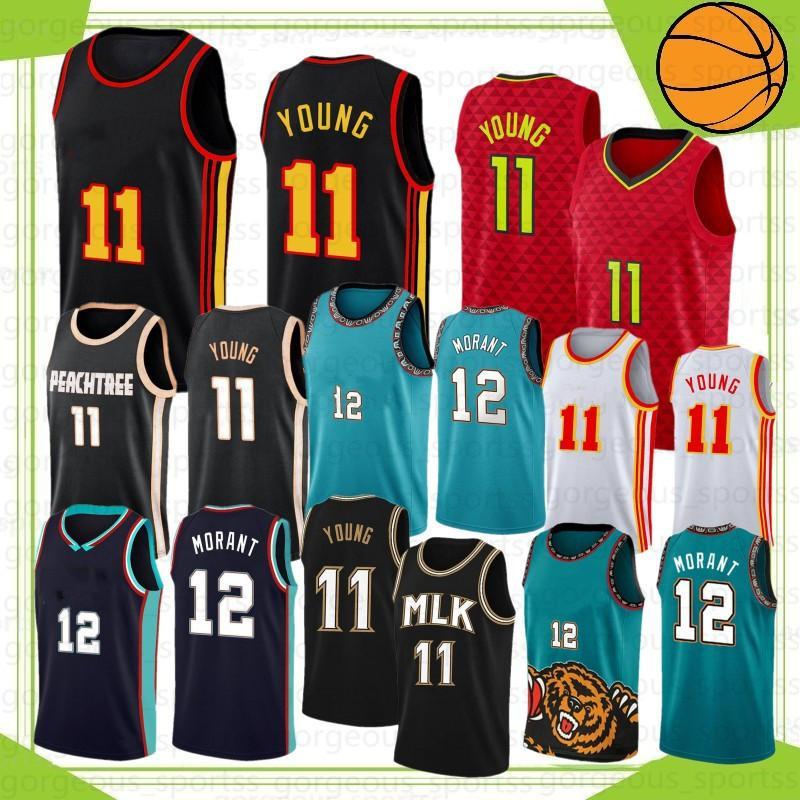JA 12 Morant College Zion Traha 1 Williamson 11 jovens 23 camisas de basquete Stock S-XXL 2021 Novo