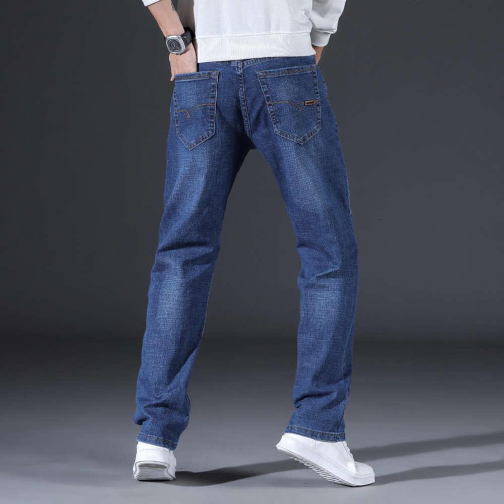 джинсы Xintang четыре сезона прямые эластичные свободные молодежные моды мужские брюки