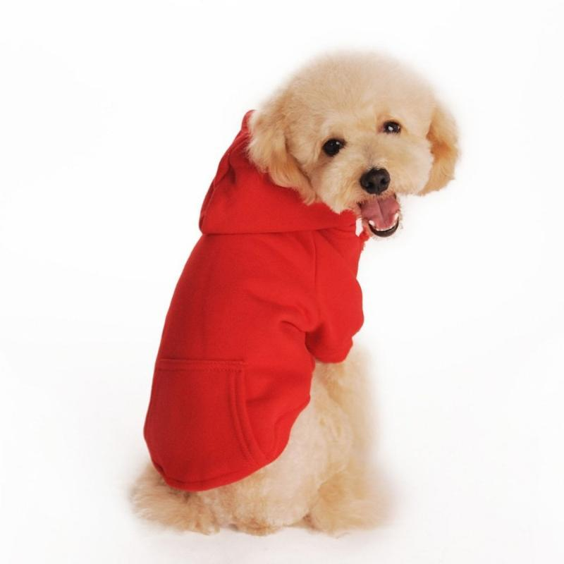 Dog Apparel Winter Warm Pet Coat Clothes Hoodie Sweater For Small Medium Dogs Costumes Jackets XS-XXL Drop
