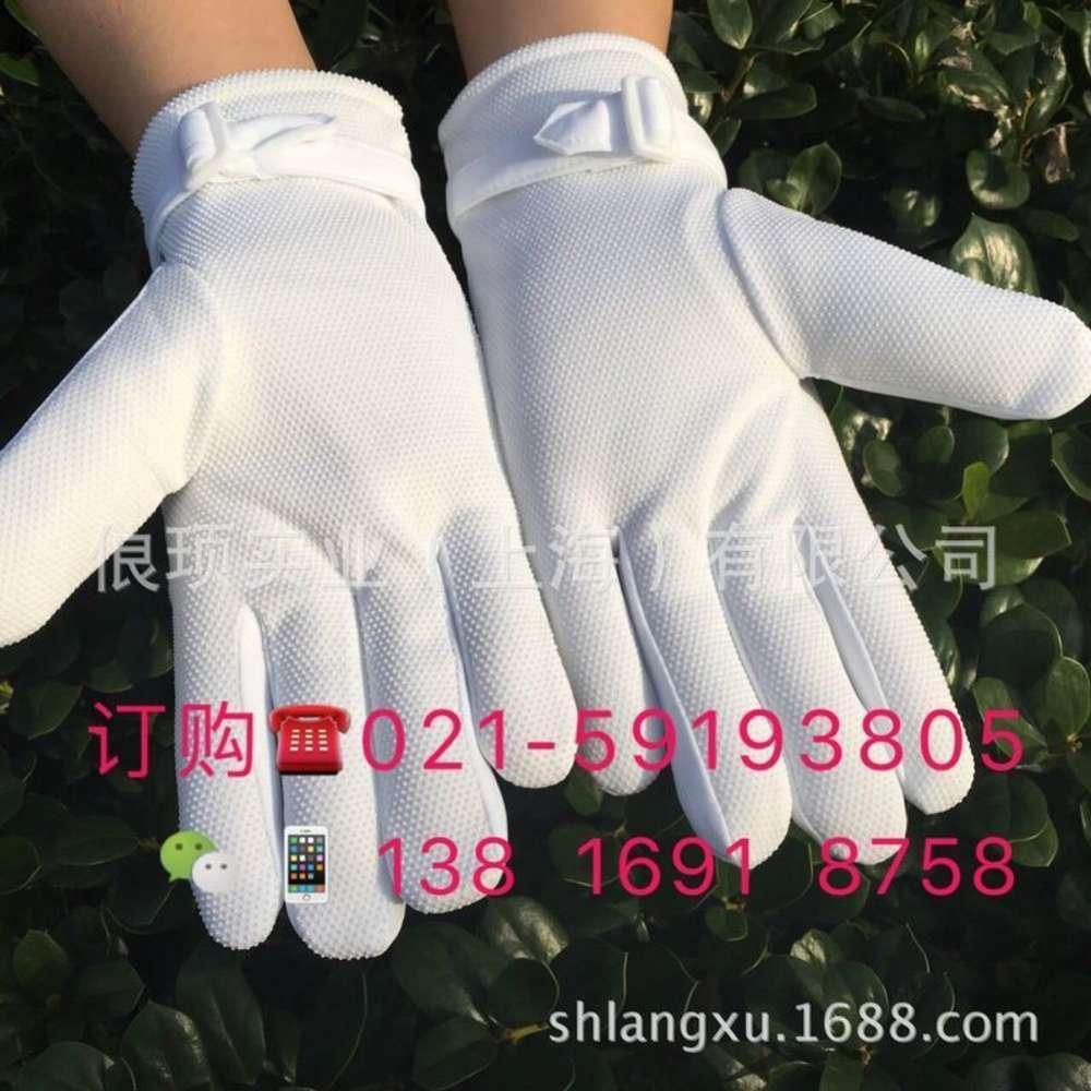 Mitaines droits antiskid hiver hiver peluche blanc gants blancs et féminin de sécurité