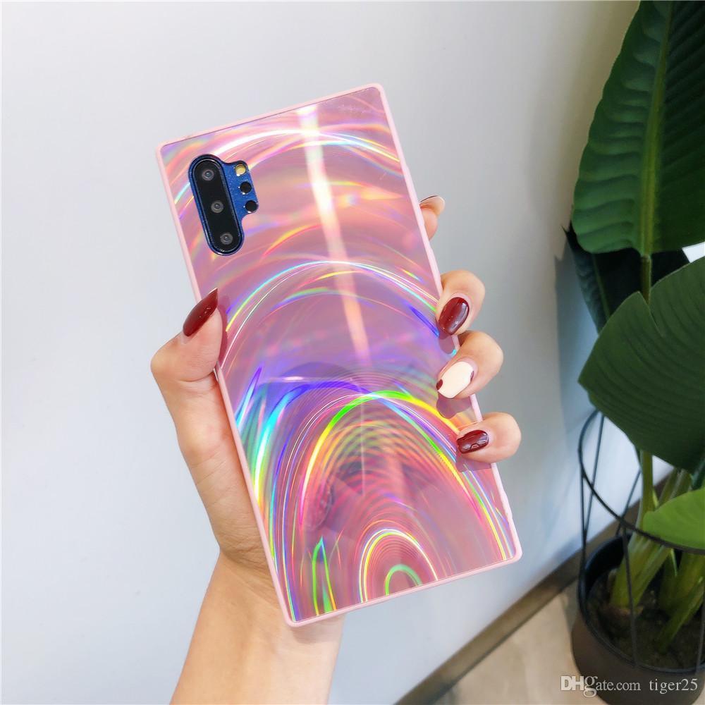 3D Capas telefônicas de arco-íris para Samsung Galaxy S20 Fe S10 S8 S9 Nota 20 Ultra 10 Plus A51 A71 A71 A10 A20 A50 A50 A70 A21S Capa Capa