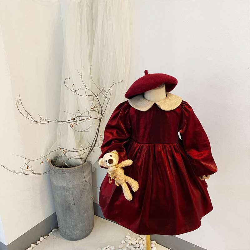 Vestidos de la niña El invierno de las niñas, el primer año de felpa, el año de felpa de los niños, los príncips de los niños, DRS OK5J