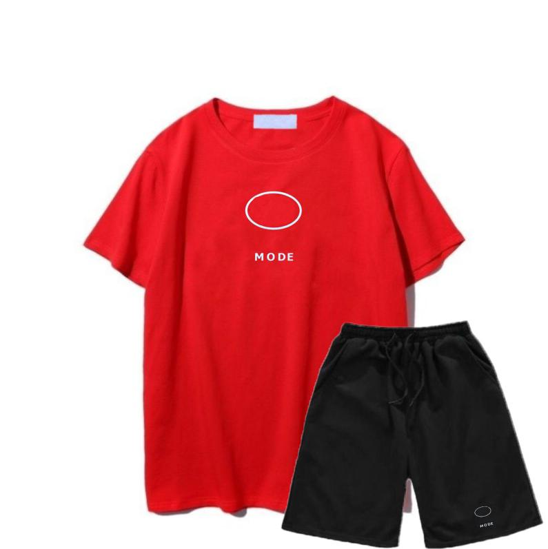 Men Fashion Suit Running Sports Casual Men's Fitness Clothes Sports Shorts Quick-drying Tights Women Short-sleeved Training Sportswear 2021