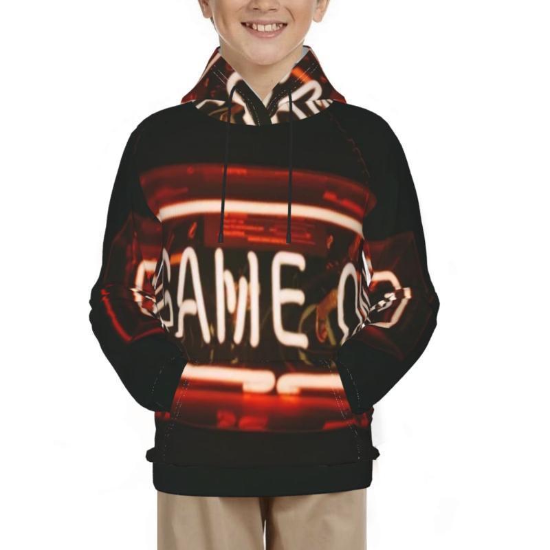 Men's Hoodies & Sweatshirts Neon Boys Hoodie Sweatshirt Cosplay Costume Outerwear Pullovers Tops