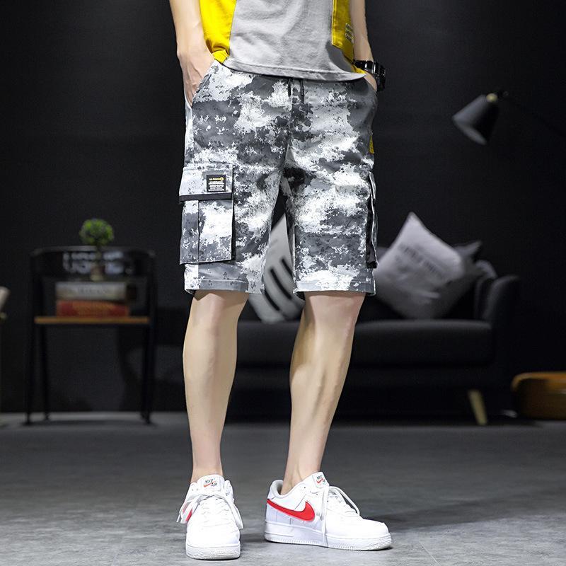 Новые моды Шорты повседневные камуфляжные комбинезоны Дышащие хлопчатобумажные спортивные штаны мужские капризы большие