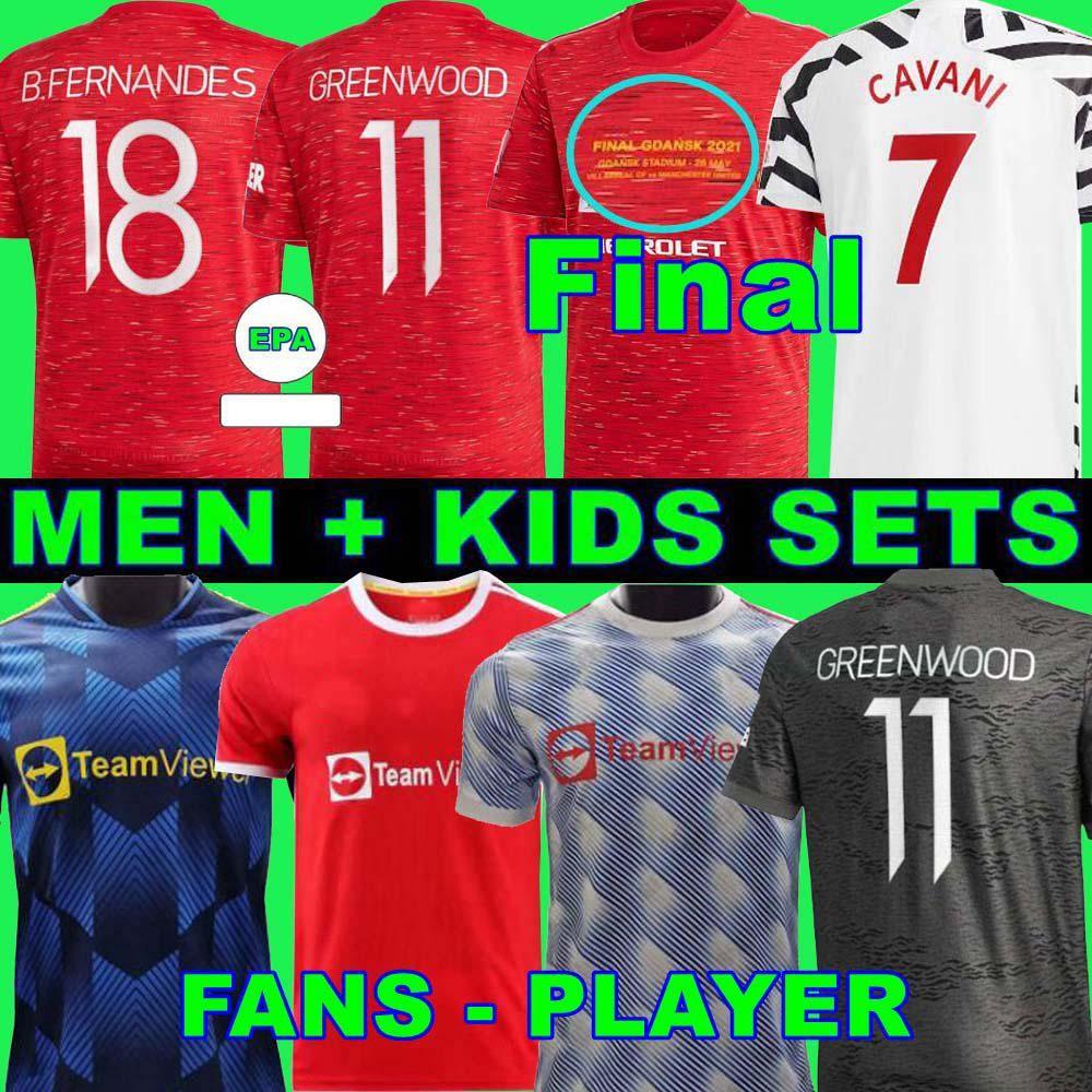 Manchester United soccer jerseys FC football shirt maglia da calcio 2020 2021 B. FERNANDES VAN DE BEEK POGBA RASHFORD MARTIAL UtD 20 21 uniformi Maglie da kit