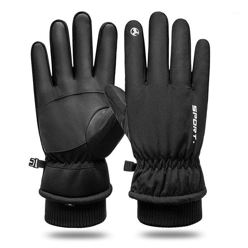 ركوب الدراجات قفازات ركوب الخيل في الهواء الطلق glovers دراجة نارية التزلج الشتاء الرياضة الدافئة للماء لمس الشاشة 1