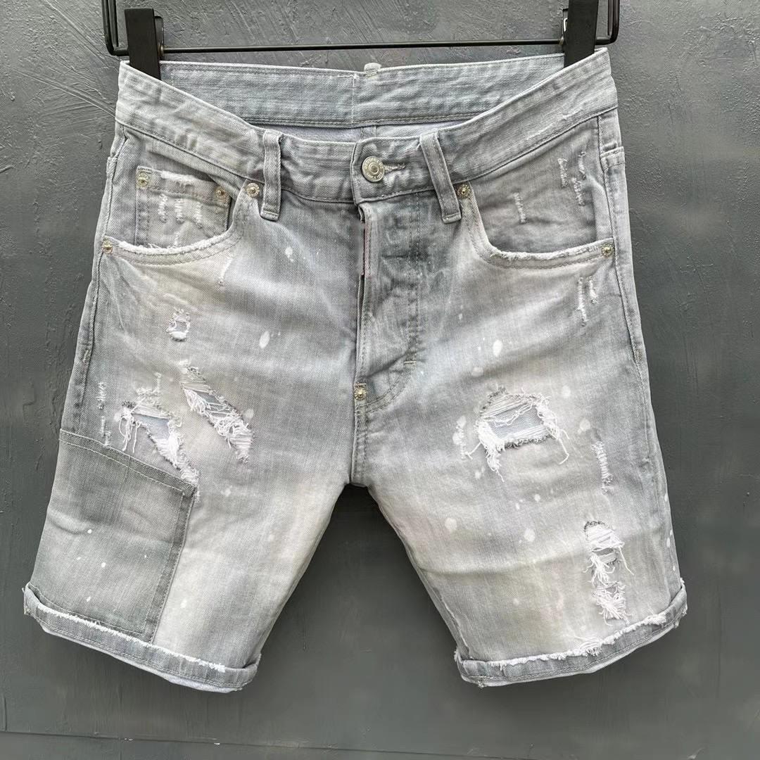 Italienische europäische und amerikanische Mode Herren Casual Jeans Shorts, hochwertiges Waschen, reines Handschleifen, Qualitätsoptimierung DAD006