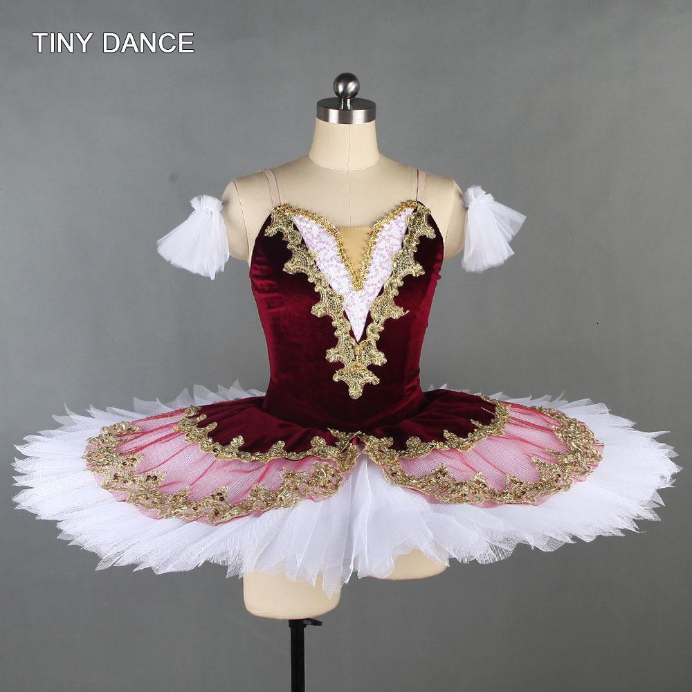 Profesyonel Bale Dansı Tutu ile 7 Katmanlı Pileli Tül Balerin Dans Kostüm Solo Elbise Gözleme Tutuş Kızlar BLL138