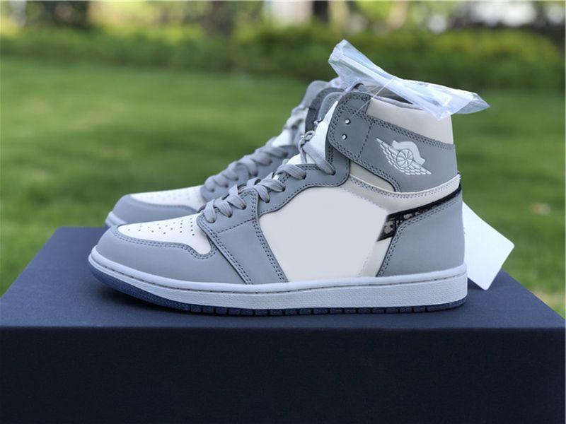 2021 الإصدار × 1 عالية og 1s أحذية رياضية باهظة الثمن أحذية رجالي المرأة كرة السلة مع المربع الأصلي C N8607-002 D US