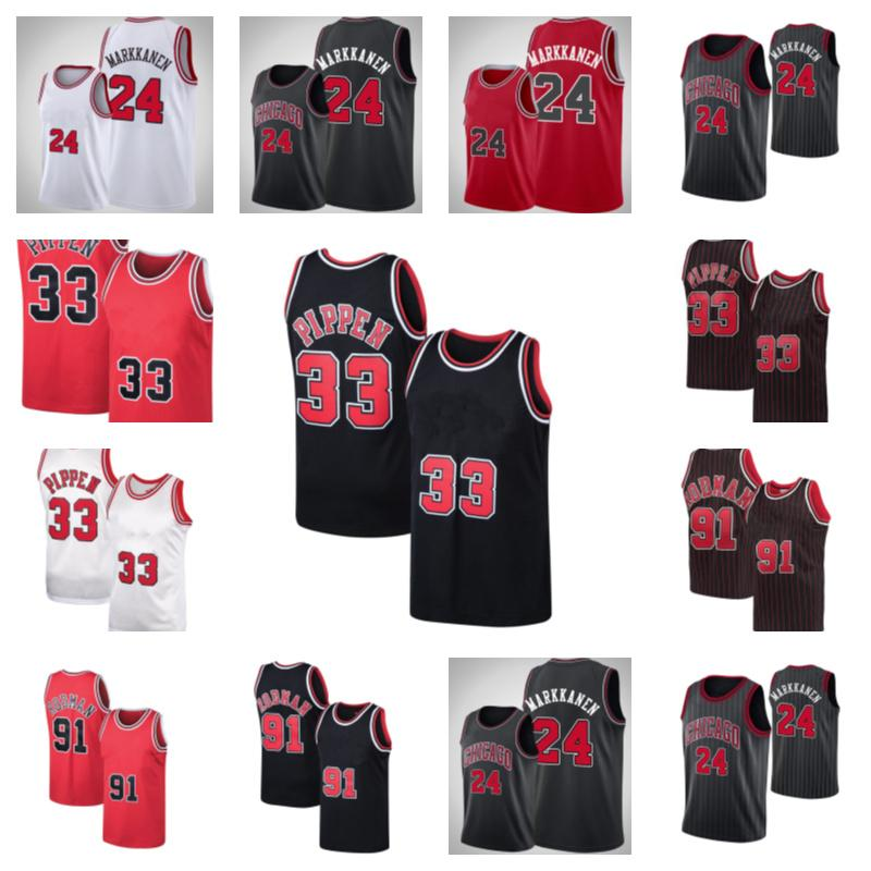 Basketball Jersey24 Lauri Markkanen33 Scottie Pippen91 Dennis Rodman