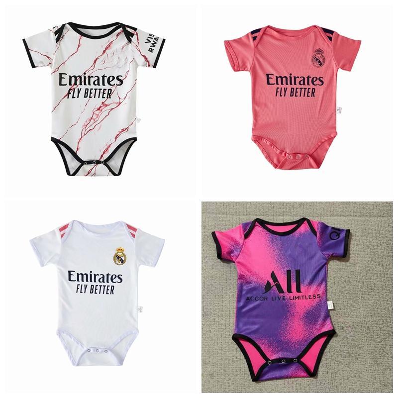 Gerçek Madrid Milan Paris Messi Yaz Bebek Tulum Yenidoğan Erkek Bebek Kız Romper Tulum Giysileri Bebek Kıyafetleri 0-18 M