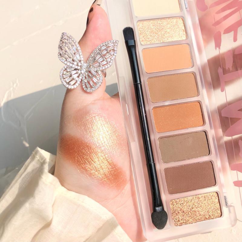 Ombre oculaire 8 couleurs tache à paupières maquette paillettes maquille paillettes paillettes maquillage maquillage pigment étanche cosmétique TSLM1