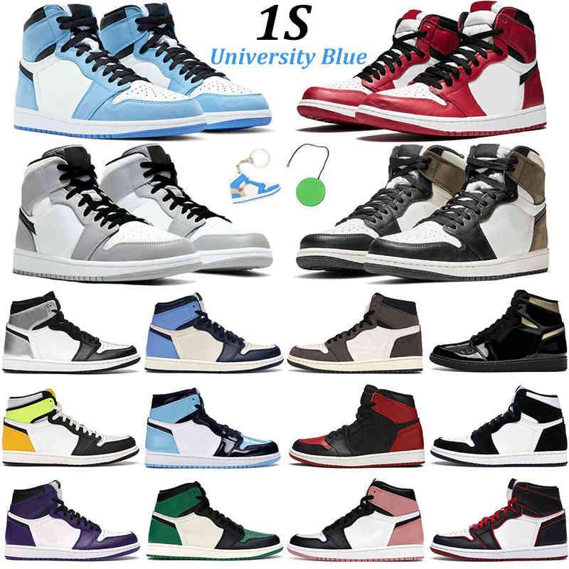 2021 Hommes Basketball Jumpman 1 Chaussures Université Bleu 1S Dark Mocha Noir Or Noir Obssidienne Chicago Twist Rust Rose Fashion Mens Femmes Sports