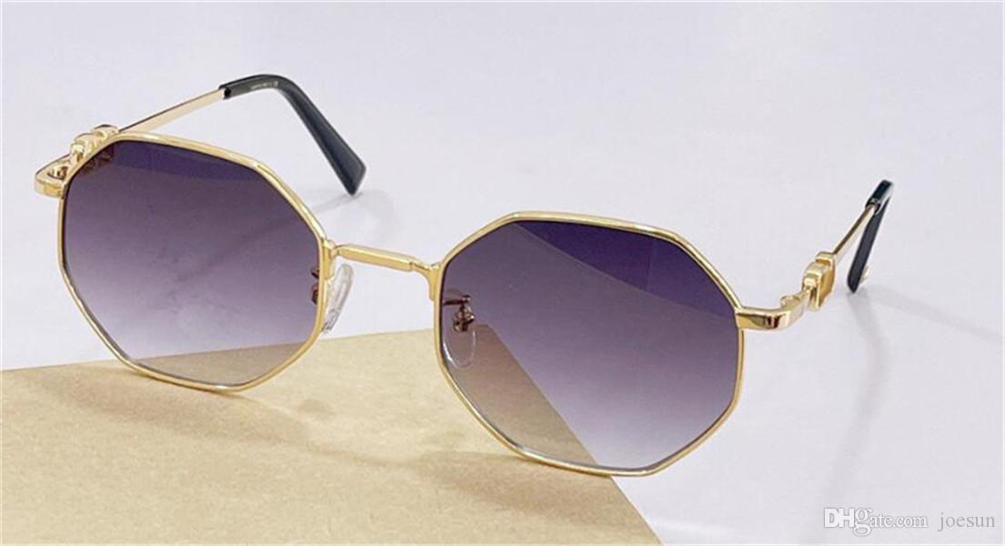 Design de moda mulheres óculos de sol 2040 polígono moldura de metal simples e moderno estilo top qualidade uv400 óculos protetores