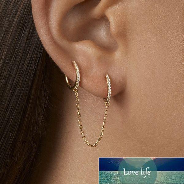 Nuova moda cerchio orecchio polsino orecchini retrattili per le donne uomini doppio cerchio aerostato orecchino femmina brincos 1 pz auricolare gioielli gioielli prezzi di fabbrica esperto di design di progettazione