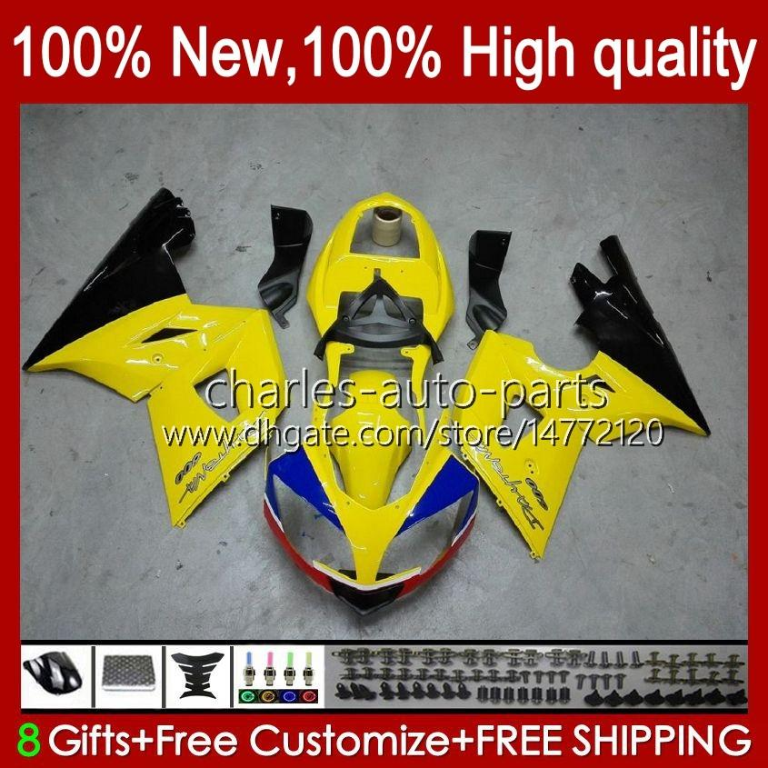 Kit de carrocería para triunfo amarillo negro Daytona 600 650 CC Daytona650 02-05 Cowling 104hc.19 Daytona600 2002 2003 2004 2005 Bodys Daytona 600 02 03 04 05 Failings Full