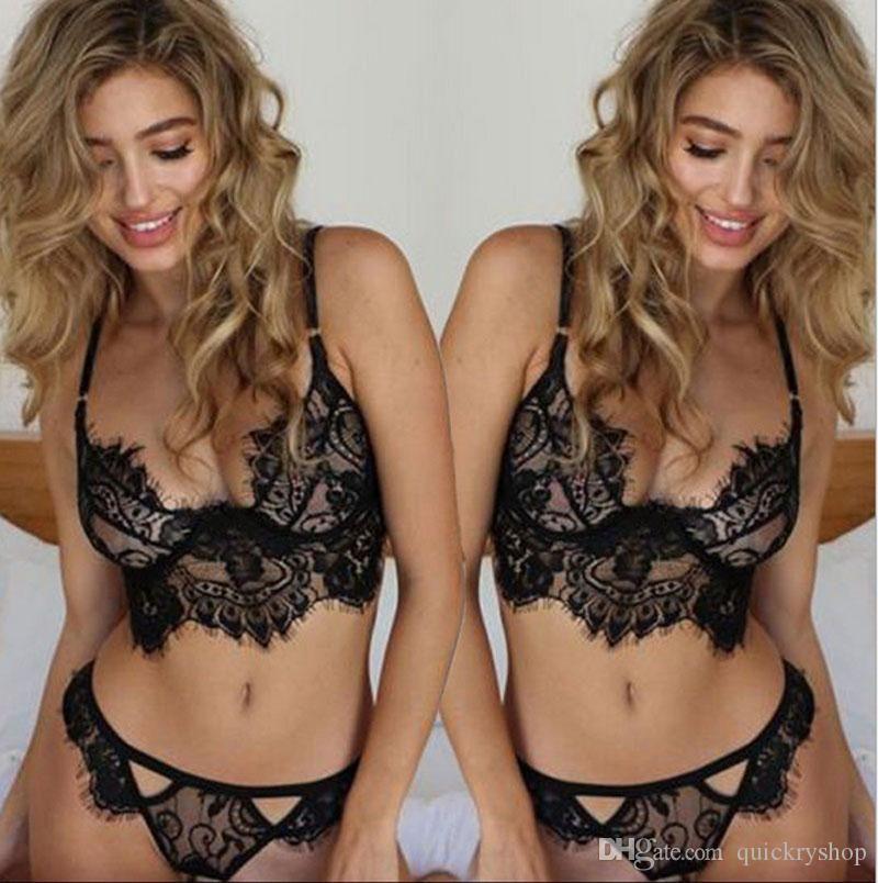 2021 Set Verkauf Frauen Nachtwäsche Hohl Transluzente Unterwäsche Frenum Strap Sexy Dessous