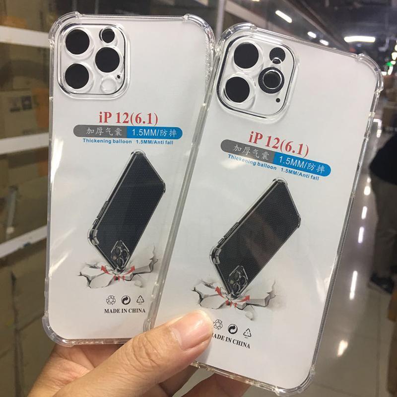 1.5mm almofada de ar limpar caso transparente macio tpu silicone tampa protetora de borracha para iphone 13 pro máximo 12 mini 11 xs xr x 8 7 6 6 s mais