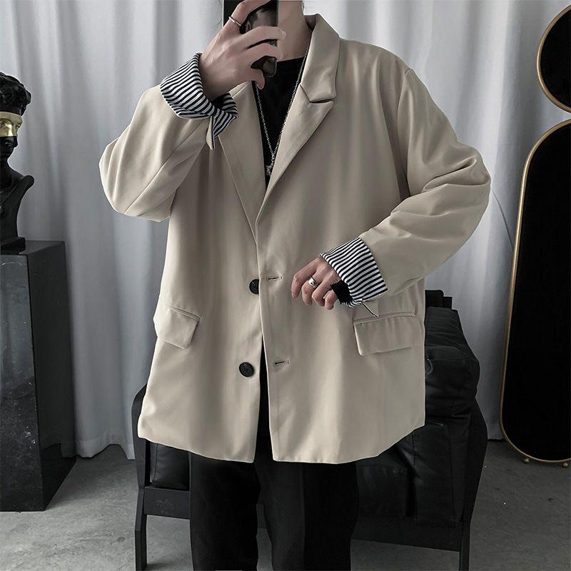 Ulzzang Color Solid Color Blazer para hombre Coreano Primavera Moda Estudiante guapo Versátil Traje Jacket