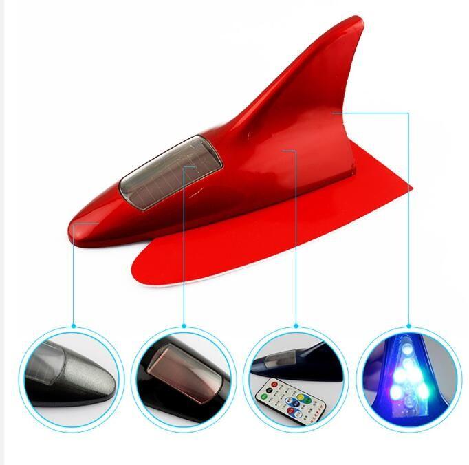 10LED 자동차 경고 조명 태양 램프 전원 LED 깜박이는 상어 지느러미 경고 꼬리 조명 컨트롤러 범용 공중 안테나 CJ