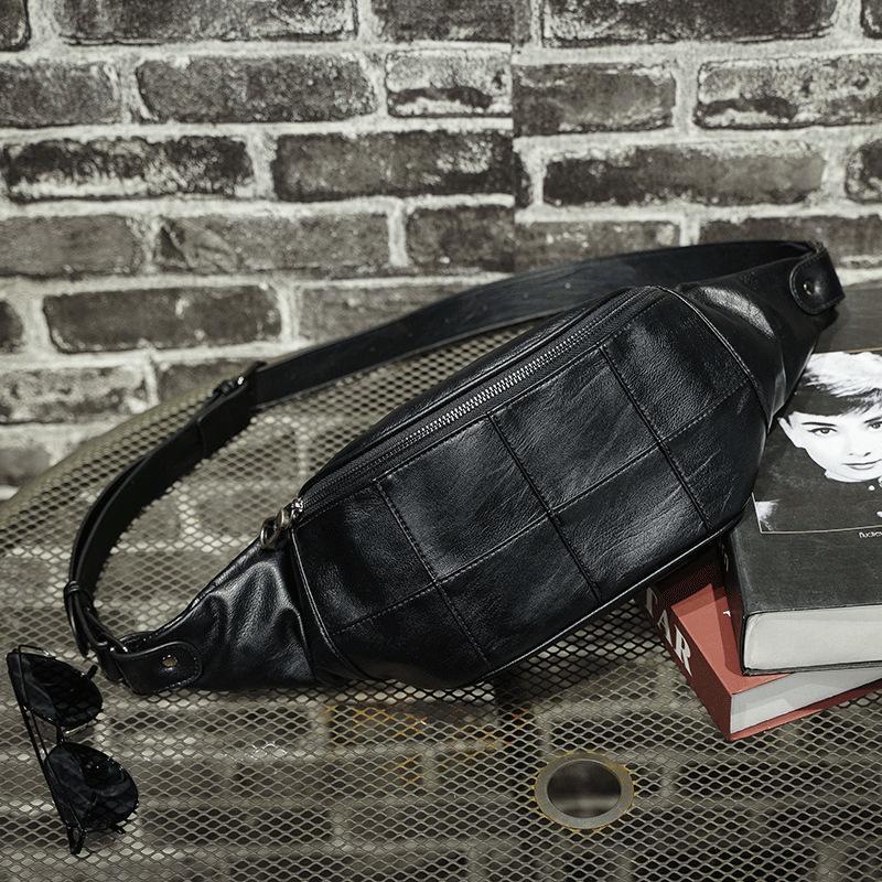 Xiao.P kemer çantası erkekler için bel çantaları kullanışlı su geçirmez fanny paketi yüksek kaliteli PU deri göğüs muz erkek kalça serseri