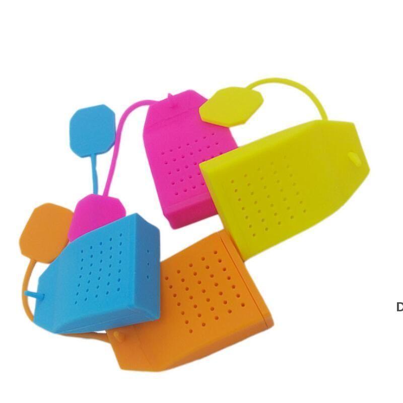 Thé à café Outils de théière Infuser silicone de qualité alimentaire Exquise cuisine Gadget Filtre en forme de sac à formes avec Multi Couleur DHB5954