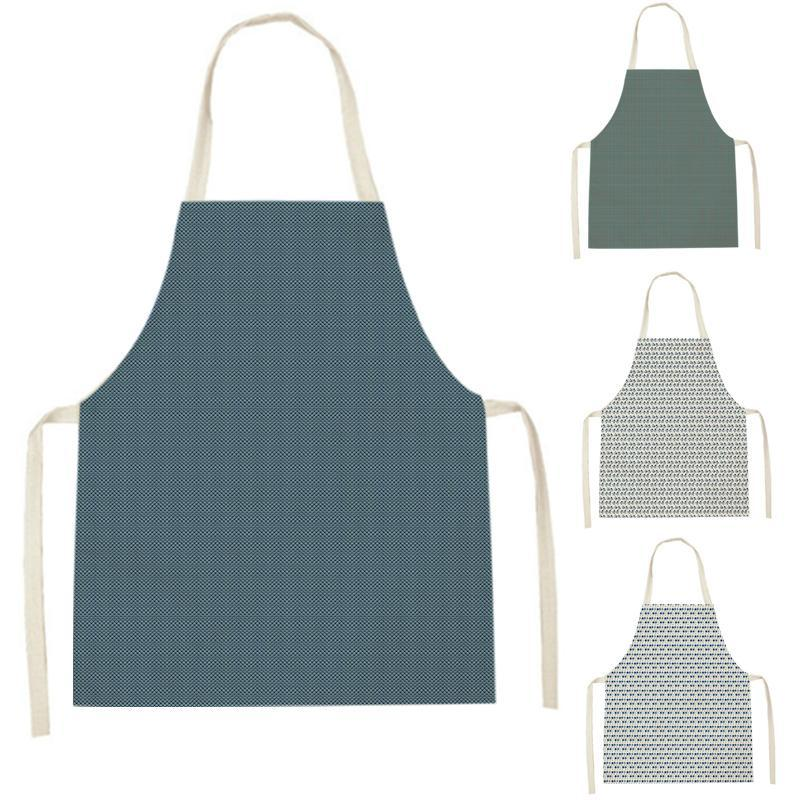 Aprons WQJ14 Kitchen For Women Linen Bibs Household Cleaning Apron Home Waterproof Chefs Cooking Baking Child