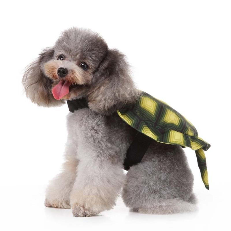 Costume de Pet de tortue vert de simulation mignonne avec une queue minuscule Halloween cosplay cosplay chucky poupée vêtements dressage de chien drôle