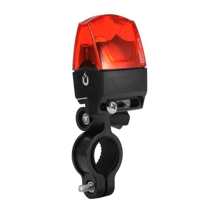 Luzes de bicicleta Mountain Cycling geração de energia de indução magnética pneus de aviso lâmpada traseira roda impermeável bicicleta taillight