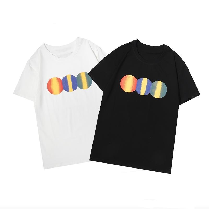 2021 designer maré marca t-shirt de algodão puro de manga curta verão nova moda all-match homens e mulheres com o mesmo estilo22g