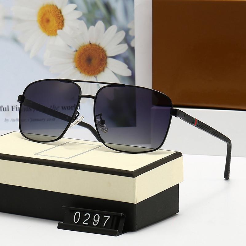 خمسة ألوان طيار نظارات شمسية للرجال والنساء الأزياء الفاخرة تصميم جودة عالية hd الاستقطاب عدسات الكلاسيكية ساحة الطيار القيادة نظارات 0297