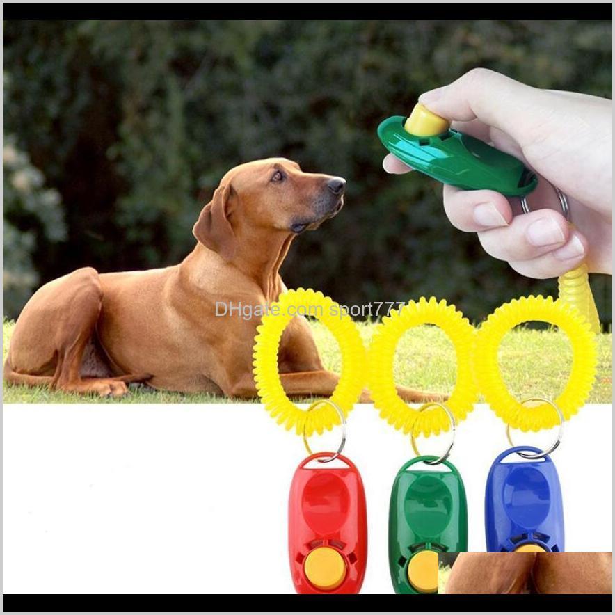 PET DOG TRAINING WHISTLE CLICKER AGILY TRANSPORTE Capacitación Ayuda Ayuda Muñeca Lanyard Capacitación para perros Obediencia Suministros Móviles Colores mixtos WKWYZ 7GXIF