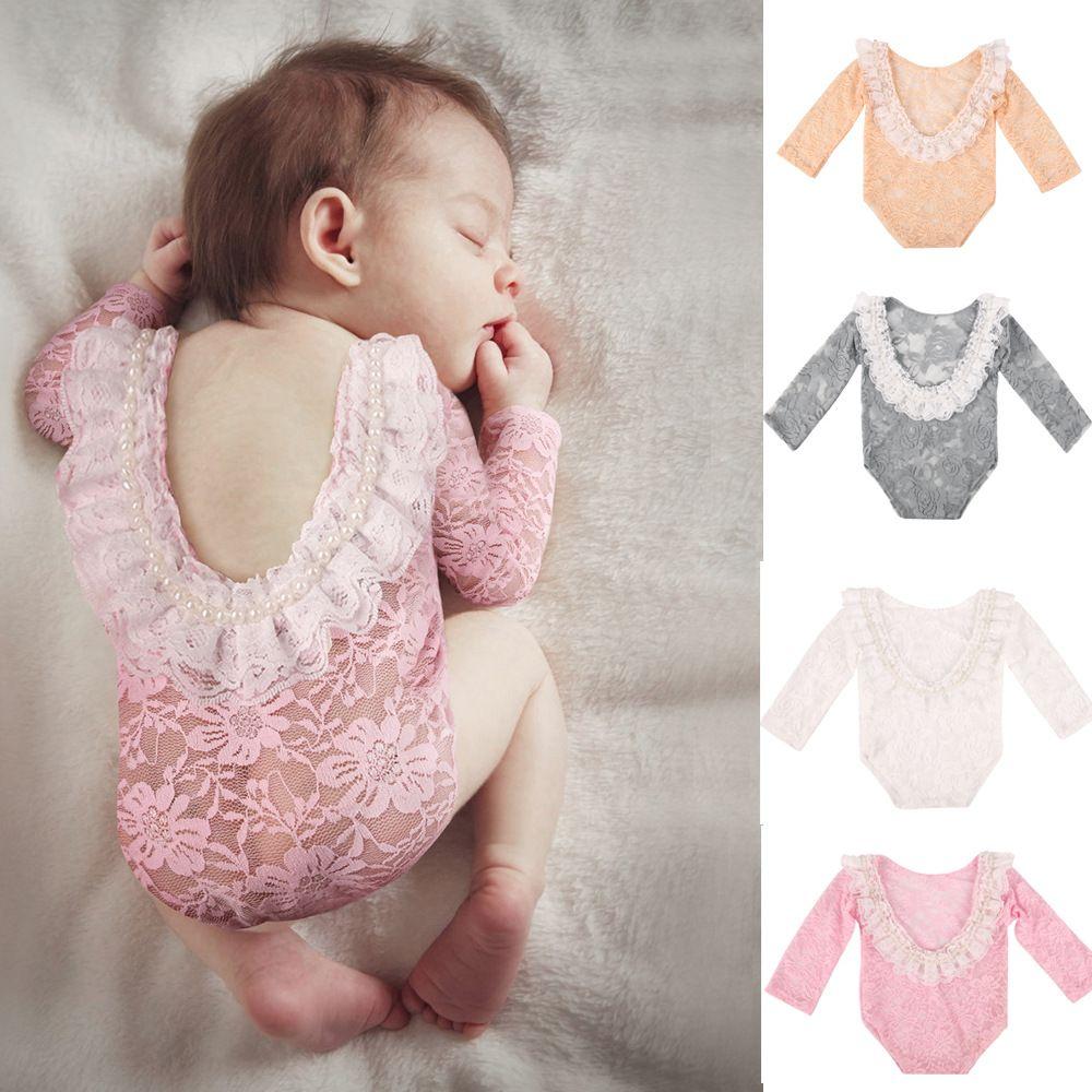 Vente au détail / en gros bébé Romper Neuf-Neuf Dentelle Pearl Rompers Contese Jumpsuits Jumpsuits Enfants Designers Vêtements Enfants Boutique Vêtements